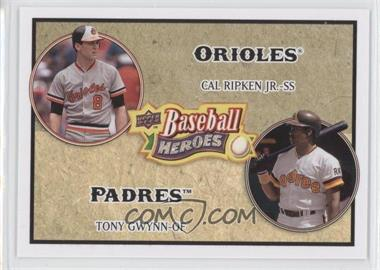 2008 Upper Deck Baseball Heroes #180 - Cal Ripken Jr., Tony Gwynn