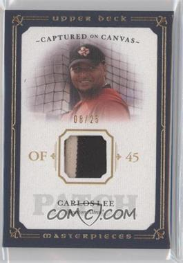 2008 Upper Deck Masterpieces - Captured on Canvas - Patch #CC-CL - Carlos Lee /25