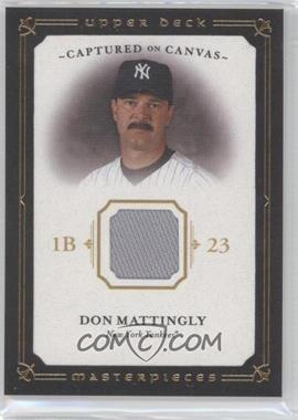 2008 Upper Deck Masterpieces Captured on Canvas #CC-DM - Don Mattingly