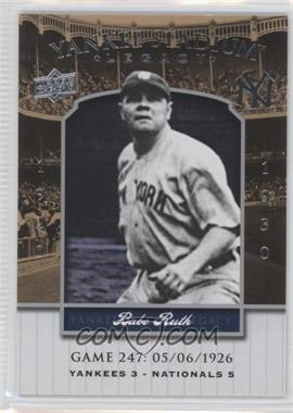 2008 Upper Deck Multi-Product Insert Yankee Stadium Legacy #YSL247 - Babe Ruth