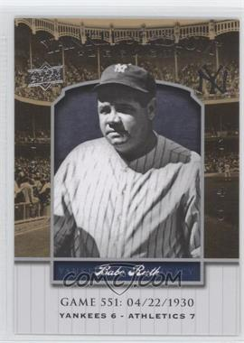 2008 Upper Deck Multi-Product Insert Yankee Stadium Legacy #YSL569 - Babe Ruth