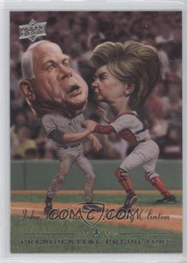 2008 Upper Deck Presidential Predictors Runningmates #PP-11A - John McCain, Hillary Clinton