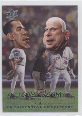 2008 Upper Deck Presidential Predictors Runningmates #PP-14 - Barack Obama, John McCain