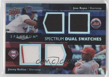 2008 Upper Deck Spectrum - Dual Swatches #SDS-RR - Jimmy Rollins, Jose Reyes /99