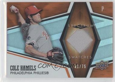 2008 Upper Deck Spectrum - Spectrum Swatches - Orange #SS-CH - Cole Hamels /75