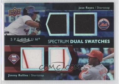 2008 Upper Deck Spectrum Dual Swatches #SDS-RR - Jimmy Rollins, Jose Reyes /99