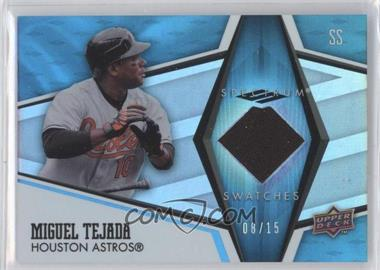 2008 Upper Deck Spectrum Spectrum Swatches Blue Patches #SS-MT - Miguel Tejada /15