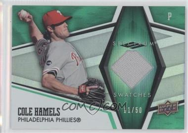 2008 Upper Deck Spectrum Spectrum Swatches Green #SS-CH - Cole Hamels /50