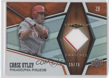 2008 Upper Deck Spectrum Spectrum Swatches Orange #SS-CU - Chase Utley /75