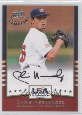 2008 Upper Deck Timeline - USA Baseball Signatures #USA-CH - Chris Hernandez