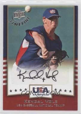 2008 Upper Deck Timeline - USA Baseball Signatures #USA-KV - Kendal Volz