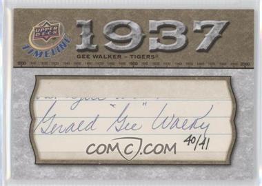 2008 Upper Deck Timeline Timelines Cut Signatures #TCS-WA - Gee Walker /41