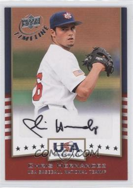 2008 Upper Deck Timeline USA Baseball Signatures #USA-CH - Chris Hernandez