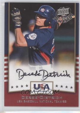 2008 Upper Deck Timeline USA Baseball Signatures #USA-DD - Derek Dietrich