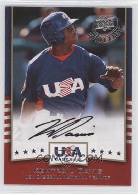 2008 Upper Deck Timeline USA Baseball Signatures #USA-KD - Kentrail Davis