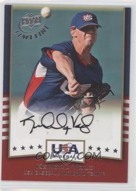 2008 Upper Deck Timeline USA Baseball Signatures #USA-KV - Kendal Volz