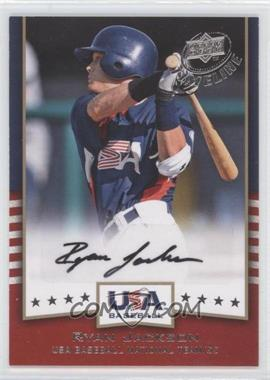 2008 Upper Deck Timeline USA Baseball Signatures #USA-RJ - Ryan Jackson