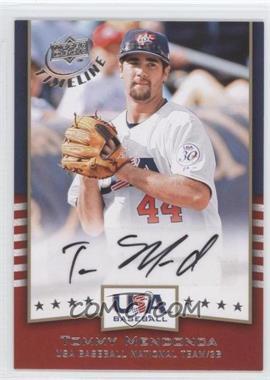 2008 Upper Deck Timeline USA Baseball Signatures #USA-TM - Tommy Mendonca