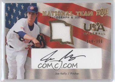 2008 Upper Deck USA Baseball National Team Black Ink Jersey Autographs [Autographed] [Memorabilia] #USA-JK - Joe Kelly /300