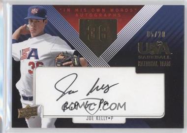 2008 Upper Deck USA Baseball National Teams [???] #JHE-11 - Joe Kelly /20