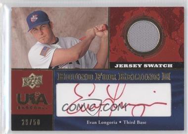 2008 Upper Deck USA Baseball National Teams Jersey Autographs Red Ink #WC-12 - Evan Longoria /50