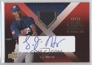 2008 Upper Deck USA Baseball National Teams Under 18 Team Autographs Materials Blue Ink [Memorabilia] #UE-5 - L.J. Hoes /75