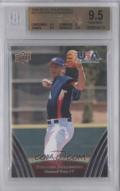 2008 Upper Deck USA Baseball Teams Box Set - [Base] #21 - Stephen Strasburg [BGS9.5]