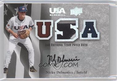 2008 Upper Deck USA Baseball Teams Box Set 16U National Team Patch Auto #16 - Nicky Delmonico /50