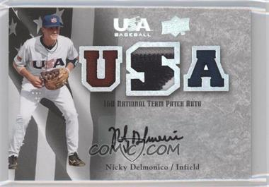 2008 Upper Deck USA Baseball Teams Box Set 16U National Team Patch Auto #16PA-ND - Nicky Delmonico /50