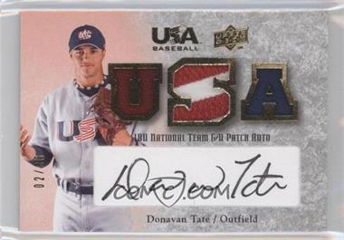 2008 Upper Deck USA Baseball Teams Box Set 18U National Team Game-Used Jersey Black Ink Autographed [Autographed] #18U-DT - Donavan Tate