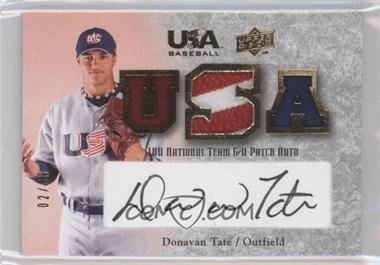 2008 Upper Deck USA Baseball Teams Box Set Box Set 18U National Team Game-Used Jersey Black Ink Autographed [Autographed] #18U-DT - Donavan Tate