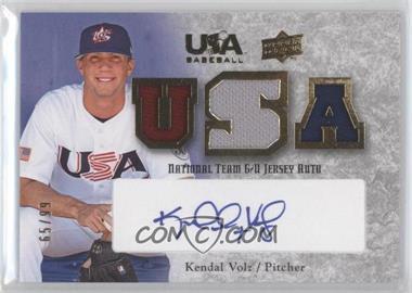 2008 Upper Deck USA Baseball Teams Box Set Box Set National Team Game-Used Jersey Blue Ink Autographed [Autographed] #NT-KV - Kendal Volz /99