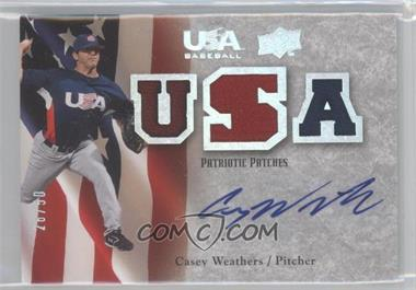 2008 Upper Deck USA Baseball Teams Box Set Box Set Patriotic Patches Autographs #PPA-CW - Casey Weathers /50