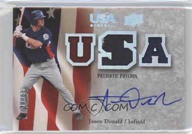 2008 Upper Deck USA Baseball Teams Box Set Box Set Patriotic Patches Autographs #PPA-JD - Jason Donald /50