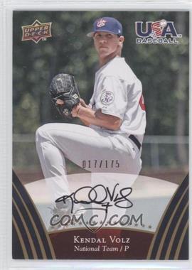 2008 Upper Deck USA Baseball Teams Box Set Gold Autographs [Autographed] #80 - Kendal Volz /175
