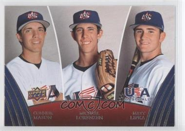 2008 Upper Deck USA Baseball Teams Box Set #45 - Connor Mason, Michael Lorenzen, Matt Lipka