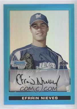 2009 Bowman - Chrome Prospects - Blue Refractor #BCP128 - Efrain Nieves /150