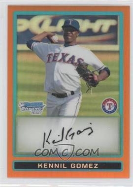 2009 Bowman - Chrome Prospects - Orange Refractor #BCP194 - Kennil Gomez /25