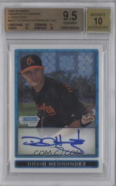 2009 Bowman - Chrome Prospects - X-Fractor #BCP122 - David Hernandez /250 [BGS9.5]