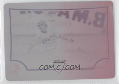 2009 Bowman Chrome - [Base] - Printing Plate Magenta #15 - Ian Kinsler /1