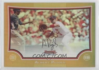 2009 Bowman Chrome Gold Refractor #2 - Albert Pujols /50