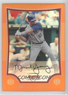 2009 Bowman Chrome Orange Refractor #162 - Michael Young /25