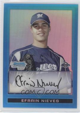 2009 Bowman Chrome Prospects Blue Refractor #BCP128 - Efrain Nieves /150