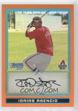2009 Bowman Chrome Prospects Orange Refractor #BCP165 - Isaias Asencio /25