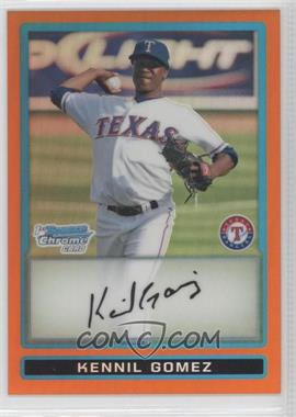 2009 Bowman Chrome Prospects Orange Refractor #BCP194 - Kennil Gomez /25