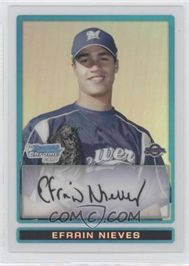 2009 Bowman Chrome Prospects Refractors #BCP128 - Efrain Nieves /500