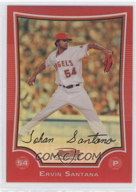 2009 Bowman Chrome Red Refractor #45 - Ervin Santana /5