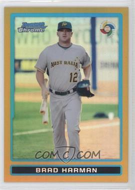 2009 Bowman Chrome World Baseball Classic Gold Refractor #BCW60 - Brad Harman /50
