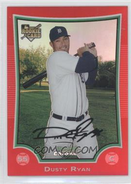 2009 Bowman Draft Picks & Prospects - Chrome - Red Refractor #BDP12 - Dusty Ryan /5