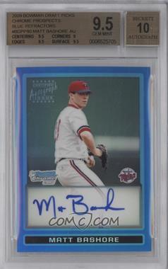 2009 Bowman Draft Picks & Prospects - Prospects Chrome - Blue Refractor #BDPP80 - Matt Bashore /150 [BGS9.5]
